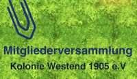 Außerordentliche Mitgliederversammlung @ Vereinshaus Kolonie Westend | Berlin | Berlin | Deutschland